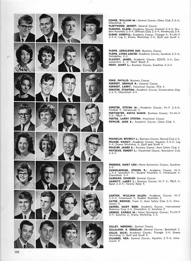 Columbus High School (CHS) 1965 Yearbook (Log) Seniors ...